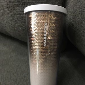 Starbucks Limited Rose Gold White Ombré Sequins